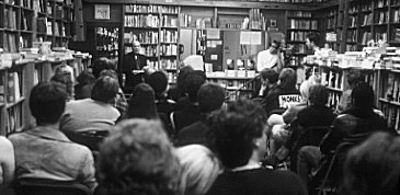 Eddie reading from 'Black Monk Time', NYC, 11/99